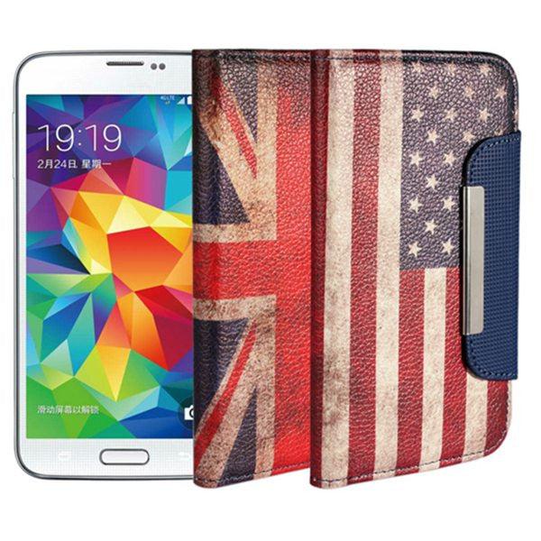 Magnetic Lock Leather Protective Case For Samsung Galaxy S5 i9600