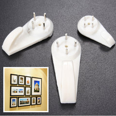 10PCS L 32mm Plastic Hard Wall Picture Photos Mirror Frame Hanging Hook Hanger Holders
