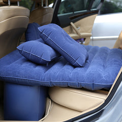 Car Inflatable Mattress Outdoor Travel Car Air Bed with Pump Pillow