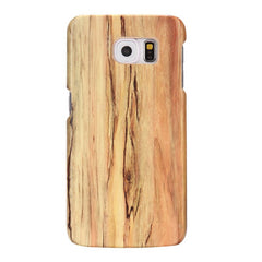 Wood Pattern Hard PC Shockproof Dropproof Back Case For Samsung Galaxy S6 Edge