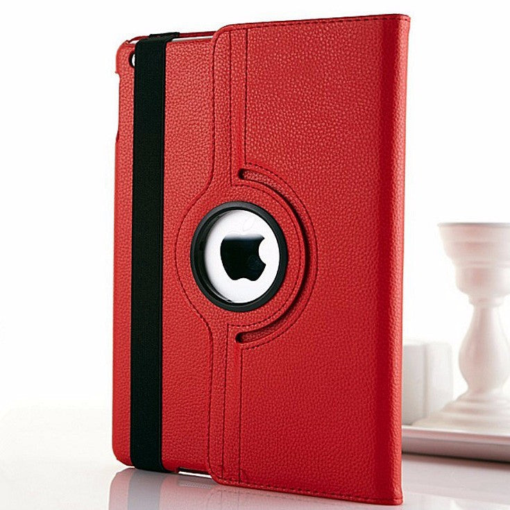 Rotary 360 Degree Rotating Litchi Grain Leather Case For iPad Air 2