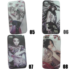 High Quality iphone4s/4 Plastic Art Shell Phone Cover Protection Cover