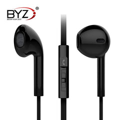 BYZ S366 Universal 3.5mm Noise Cancelling Remot Earphone With Mic For iPhone Samsung