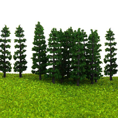 20pcs 1:100 Fir Trees Model Train Road Green Street Park Garden Scenery HO OO N