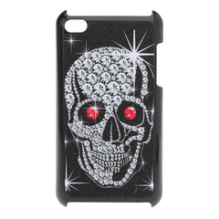 Bling Scrub Skeleton Head Design Bone Case For iPod Touch 4 4G