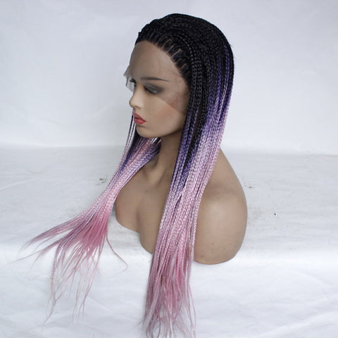 Three Strands Of Dice Gradient Front Lace Wig