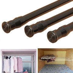 Extendable Adjustable Spring Tension Window Curtain Rod Pole Telescopic Pole Shower Curtain Rod