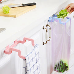 Hanging Kitchen Cupboard Door Back Style Stand Trash Garbage Bags Storage Rack Towel Rack