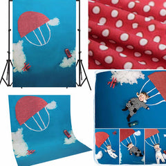 1.5x2M Blue Sky Cloud Parachute Baby Children Photography Background Backdrop Shooting Studio Props
