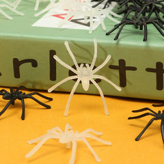 20pcs Halloween Spider Prop Insects Joking Toys Party Decor Bugs Decor