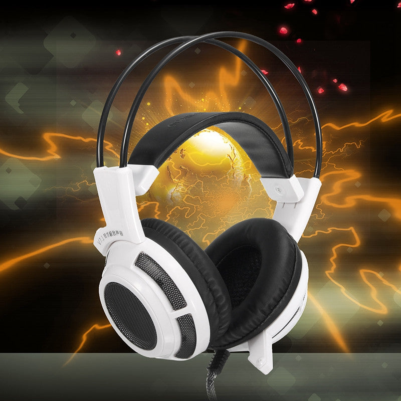 V7.1 3.5mm Stereo LED Gaming Headphone Headset With Mic For Computer Apple Macbook