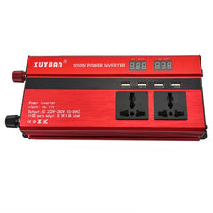 XUYUAN LED 1200W Power Inverter with Screen 12/24 - 220V