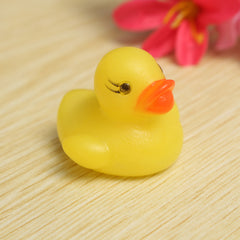 Mini Rubber Squeaky Yellow Duck Fun Floating Kids Toys