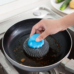 KCASA KC-CS07 Hanging Steel Wire Ball Cleaning Brush Pot Pan Dish Bowl Scrubber Cleaner Washing Tool