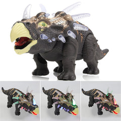 Dinosaur Triceratops Toy Model Light Sound Walk Moving Action Figure 2 Color