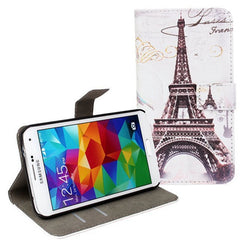Eiffel Tower Filp Leather Protective Case for Samsung S5 i9600