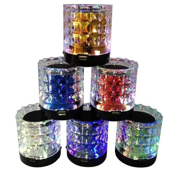 Portable Crystal Transparent Stereo Card Speaker For iPhone Smartphone