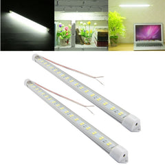 2PCS 7W SMD5730 Pure White Aluminum Not-Waterproof Double Row LED Rigid Strip Hard Light DC12V
