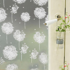 40x200cm Removable Dandelion Window Sticker Recyclable Glass Casement Film