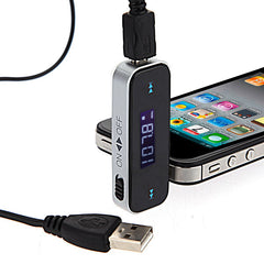 3.5mm Auto KFZ In-car Fm Transmitter for iPhone 4S 4G 3GS iPod Touch