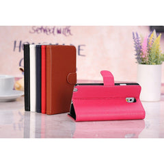 Litchi Pattern Flip Wallet Leather Stand Case For Samsung Note 3 N9000