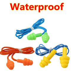 Waterproof Portable Silica Gel Ear Plug Hearing Protection Noise Reduction Sleep
