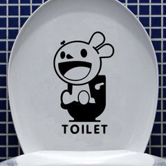Toilet Seat Cover Sticker Bathroom Waterproof Wall Decal Home Decor