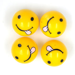 Universal Gas Nozzle Cover with Smiling Tongue Face Valve Caps Car Decoration Four Pack