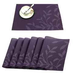 KCASA Washable Placemat for Dining Table Creative Heat Insulation Stain Resistant Anti-skid Eat Mats