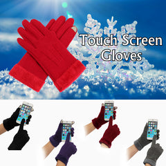 Women Winter Touch Screen Gloves Full Finger Mittens For iPhone 6/6S Plus iPhone 6/6S Tablet Smartph