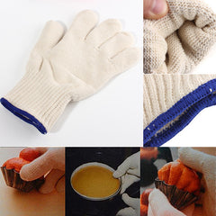 1Pcs Heat Resistant Heatproof Cotton Gloves BBQ Oven Kitchen Gloves