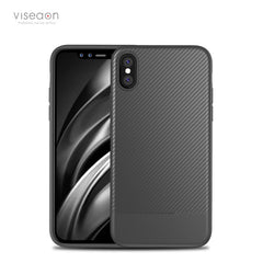 Ultra-thin Shockproof Carbon Fiber Soft TPU Case for iPhone X 5.8 Inch