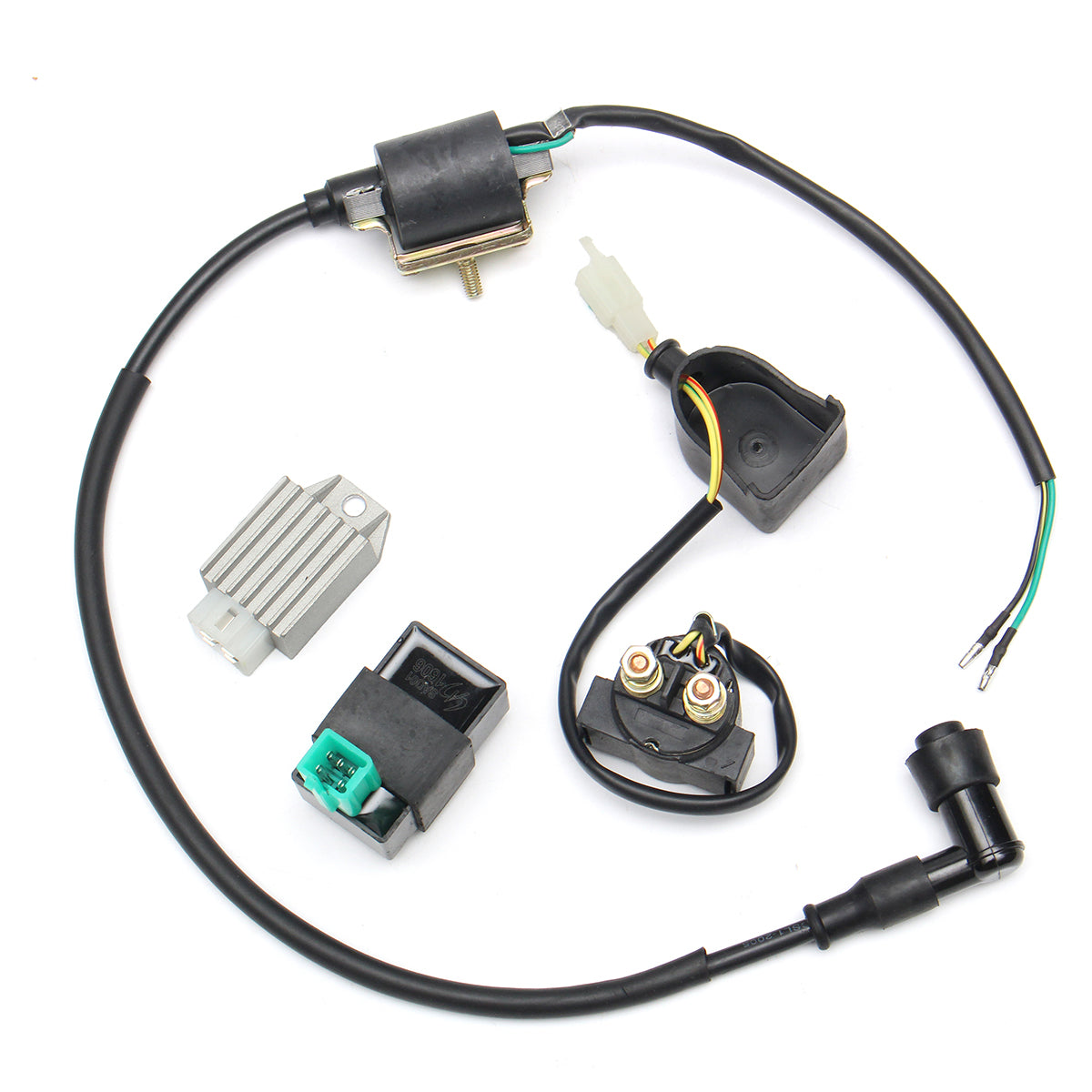 Cdi Motoforce Racing Kymco 2 Takt 6 Pins New 50 70 90 110cc 125cc Wire Harness Wiring Ignition Coil 5 Pin Regulator Solenoid For Quad Dirt Bike