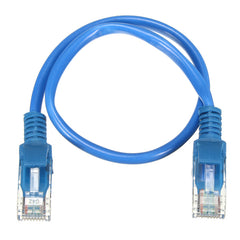 20cm Blue RJ45 CAT5 Gold Plated Networking LAN Ethernet Short Patch Cable
