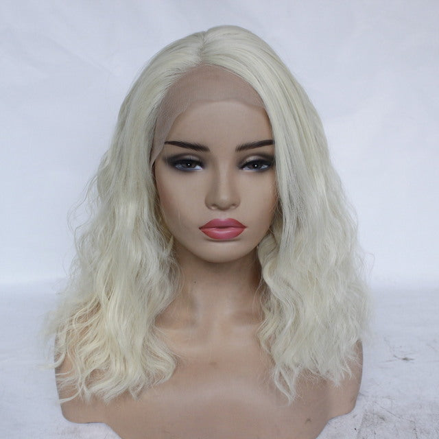 Split Water Rippled Micro-Volume Fluffy Gold Wig