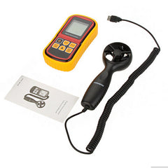 GM8901 Portable LCD Digital Anemometer Wind Speed Meter Air Velocity Air Temperature Meter Tester Measuring 0~