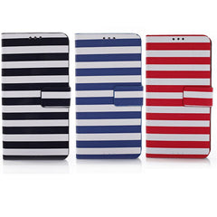 Dual Color Stripe Leather Stand Case For Samsung Galaxy S5 I9600