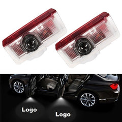 2Pcs 5W 6500K Car Welcome Light Door Courtesy Laser Projector Lamp for Benz