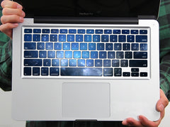 PAG Blue Flash Starry Sky PVC Keyboard Bubble Free Self-adhesive Decal For Macbook Pro 13 15 Inch
