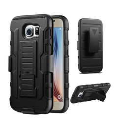 Bakeey™ 3 in 1 Armor Belt Clip kickstand Holder Soft TPU+Hard PC Case for Samsung Galaxy S6 Edge