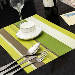 KCASA KC-PM1 4pcs Set Placemats PVC Placemat Bar Mat Plate Mat Table Mat Set Kitchen Hot Pads 30*45cm Multiple Color