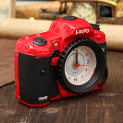 Vintage Camera Alarm Clock Simulation Creative Decor Clock Retro Antique Props Gift