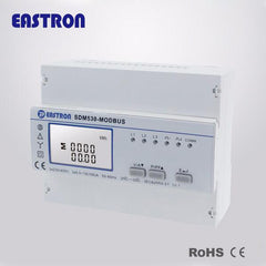 SDM530Modbus 10(100)A Modbus RTU Measure kWh Kvarh KW Kvar KVA P F PF Hz dmd V A Three Phase Four Wire Din Rail Energy Meter