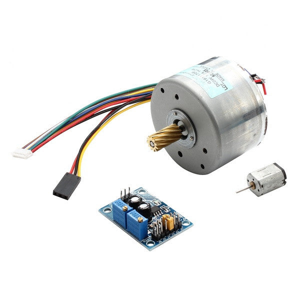 Brushless DC Motor + Driver Board Kit With Pulse Generator 24V 1.2A 14.2W