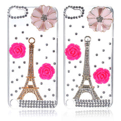 Paris Eiffel Tower Flower Crystal Diamond Hard Case For iPod Touch 5