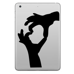 Hat-Prince Double Hands Decorative Decal Removable Bubble Free Sticker For iPad 9.7 Inch