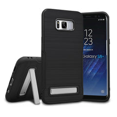 Brushed Finish PC Collapsible Kickstand Anti Skid Anti Fingerprint Case For Samsung Galaxy S8 Plus
