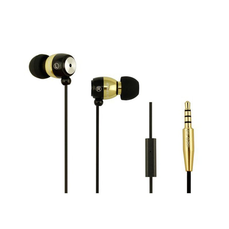 AWEI Q38i Extrabass Power In-Ear Metal Earphone With Microphone For iPhone 6S iPad iPod