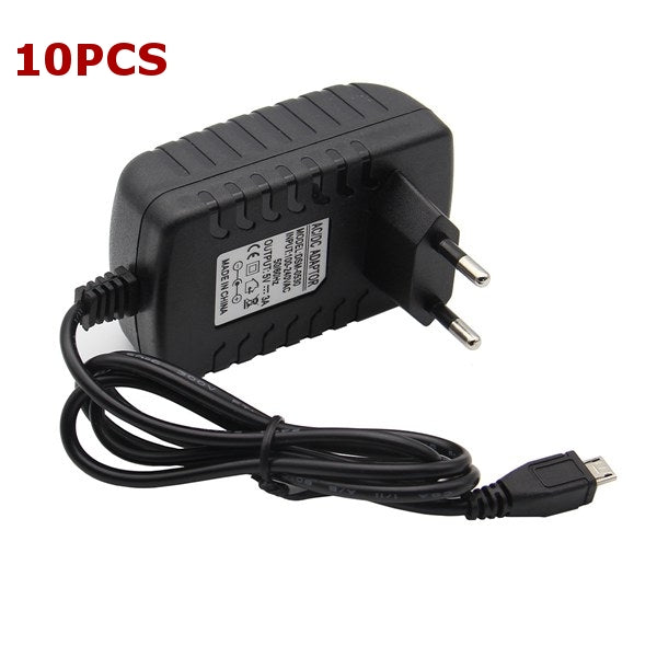 10PCS Geekcreit® DC 5V 3.0A EU Power Supply Micro USB Adapter Charger For Raspberry Pi 3 Model B