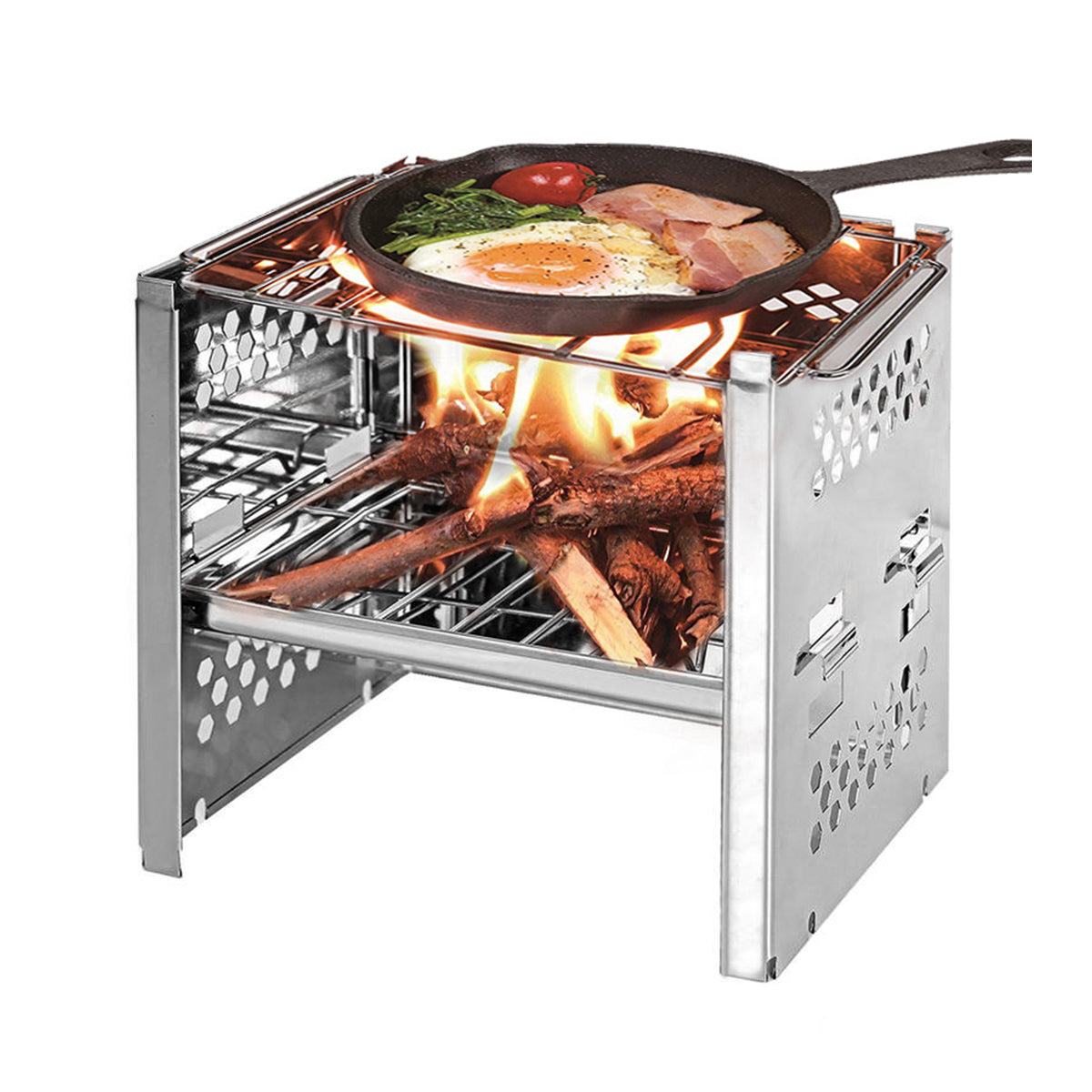 Duurzame opvouwbare BBQ-grill Barbecue kachel Outdoor picknick Camping BBQ-grill met opbergtas